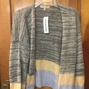Gray acrylic open cardigan from Urban Outfitters